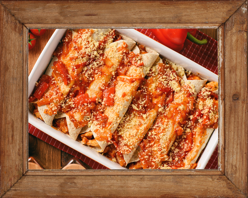Thanksgiving Leftover Enchiladas
